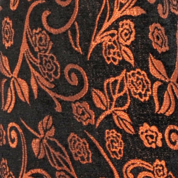Brocado Ocre Relieve Negro